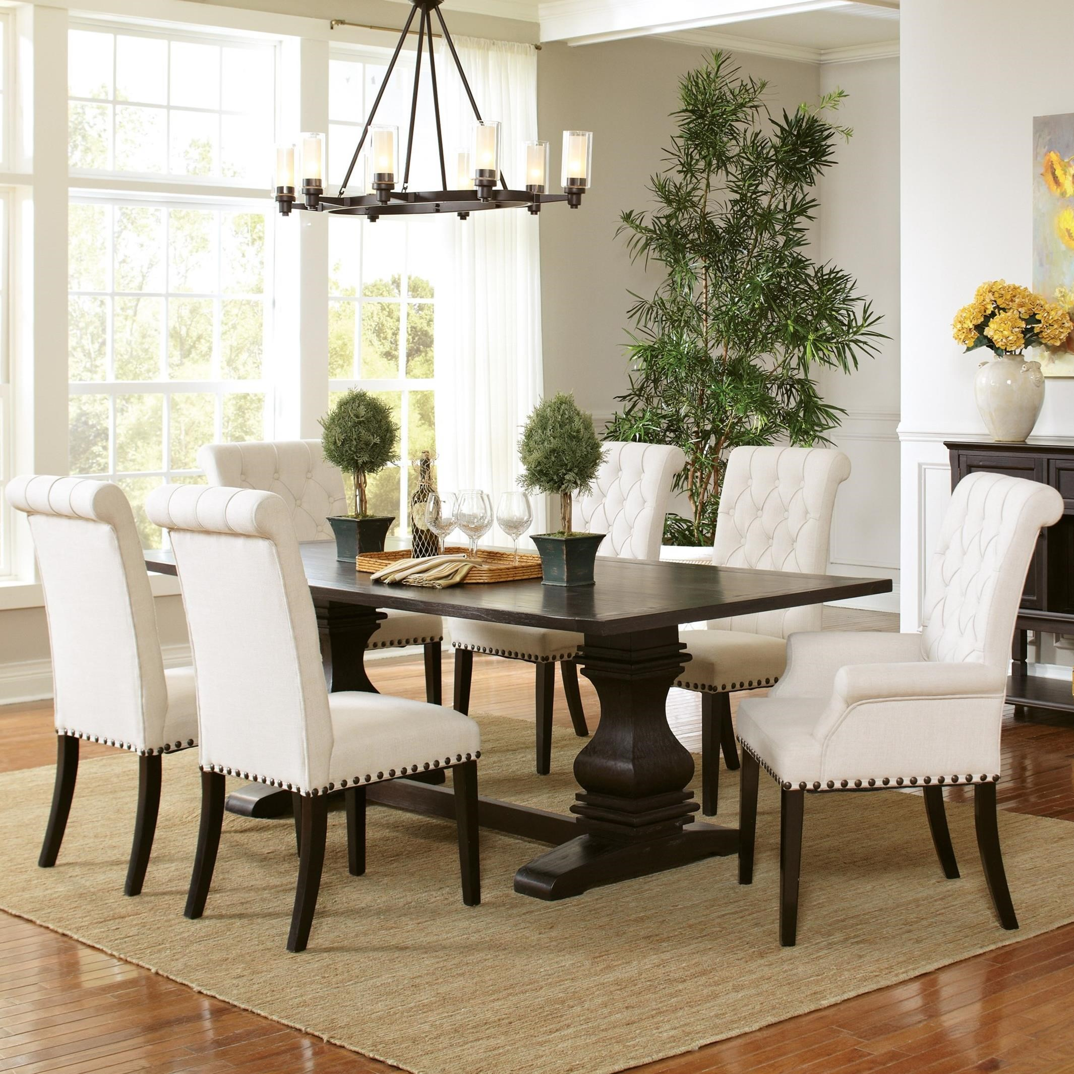 Dining Room Sets Dallas Tx: Coaster Parkins 7pc Espresso Rectangular Dining Table Set