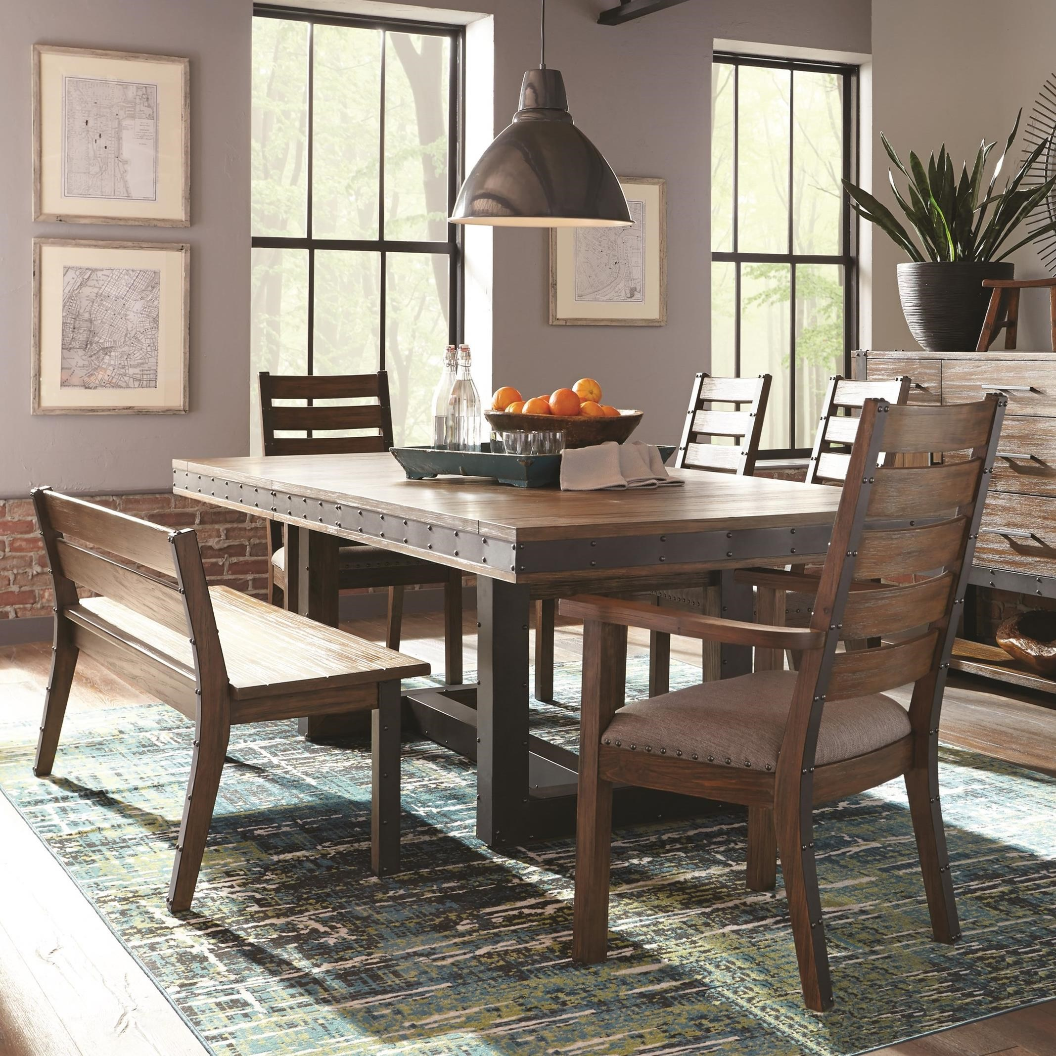 Dining Room Sets Dallas Tx: Coaster Atwater 5pc Bourbon Wire Brushed Extendable Dining