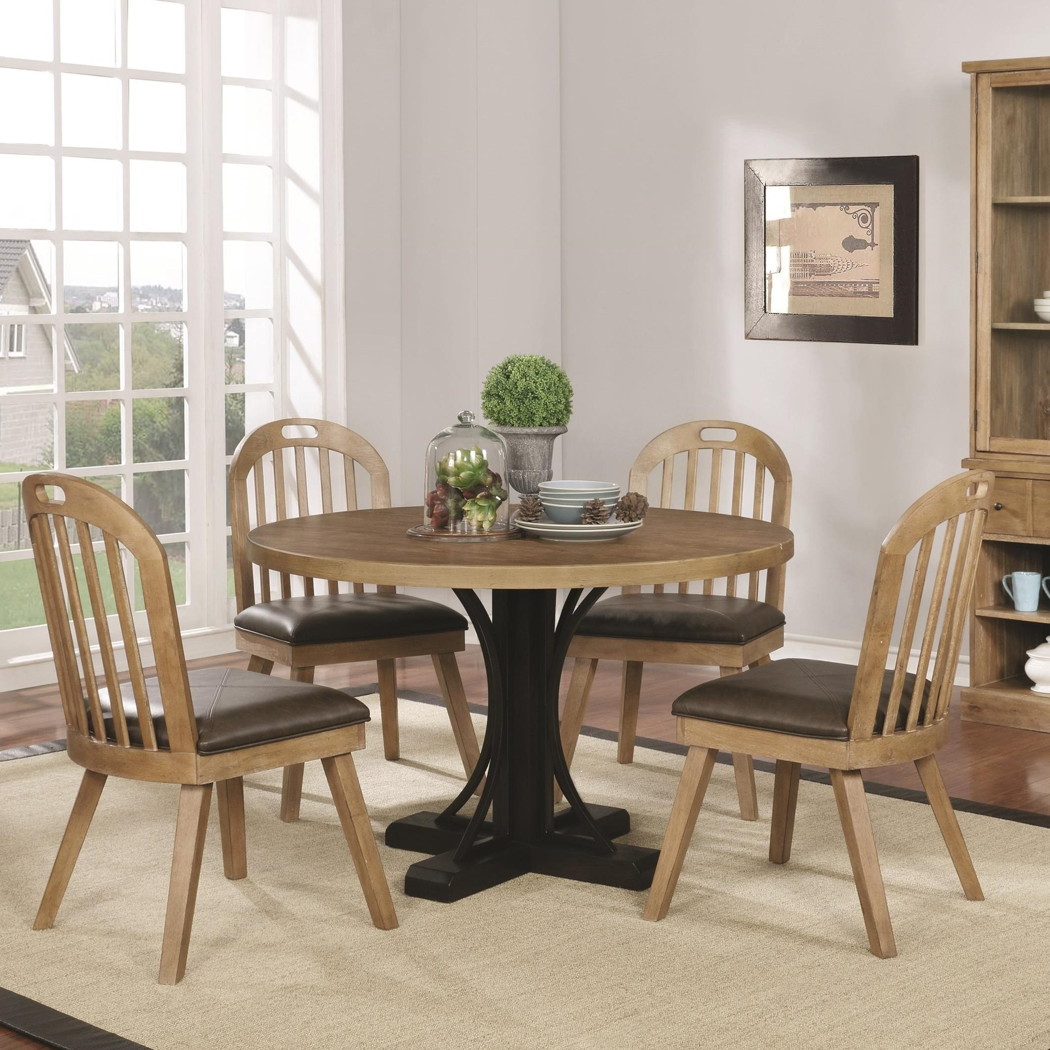Dining Room Sets Dallas Tx: Coaster Bishop 5pc Round Dining Table Set Dallas TX