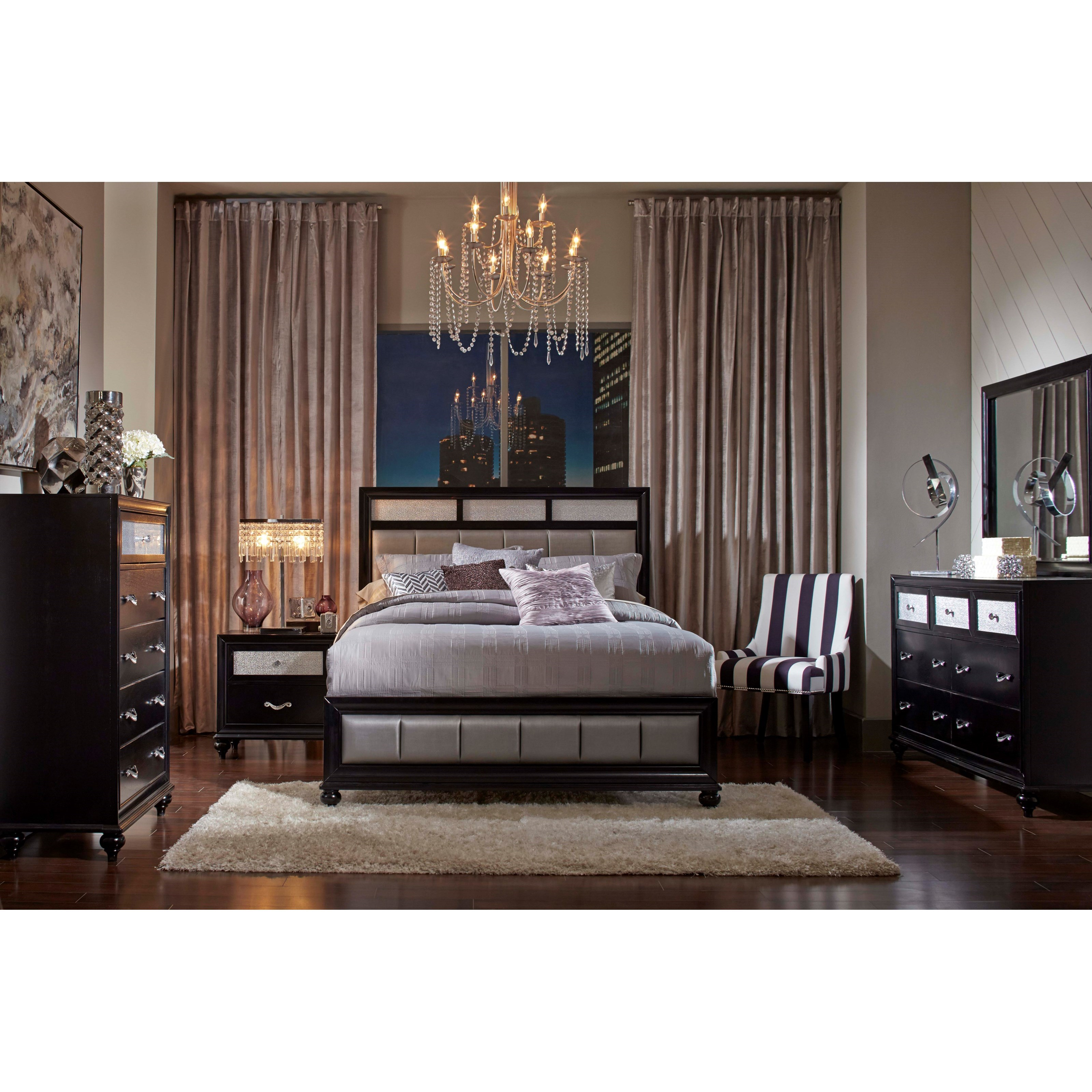 Good Coaster Barzini 5pc Black Queen Platform Bedroom Group Available Online In  Dallas Fort Worth Texas
