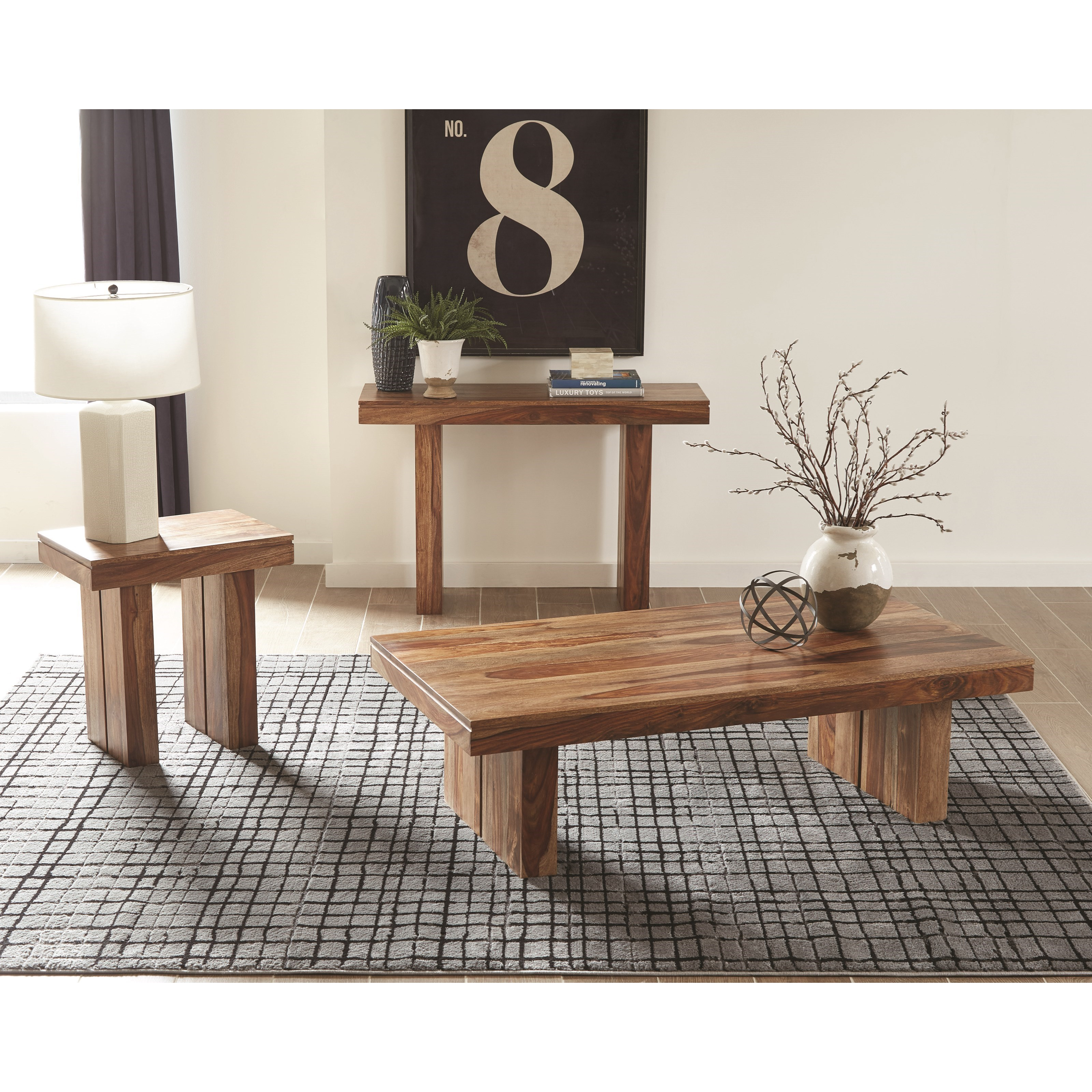 Coaster Scott 3pc Natural Sheeshan Coffee Table Set Dallas Tx Occasional Tables Furniture Nation