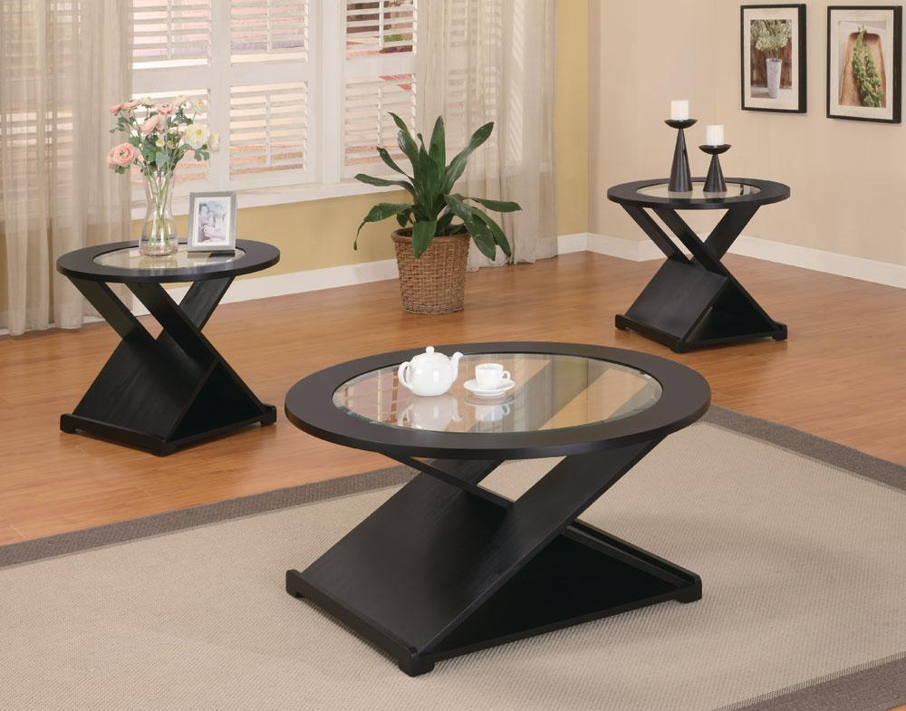Coaster San Martin Black X Style 3pc Coffee Table Set Dallas Tx