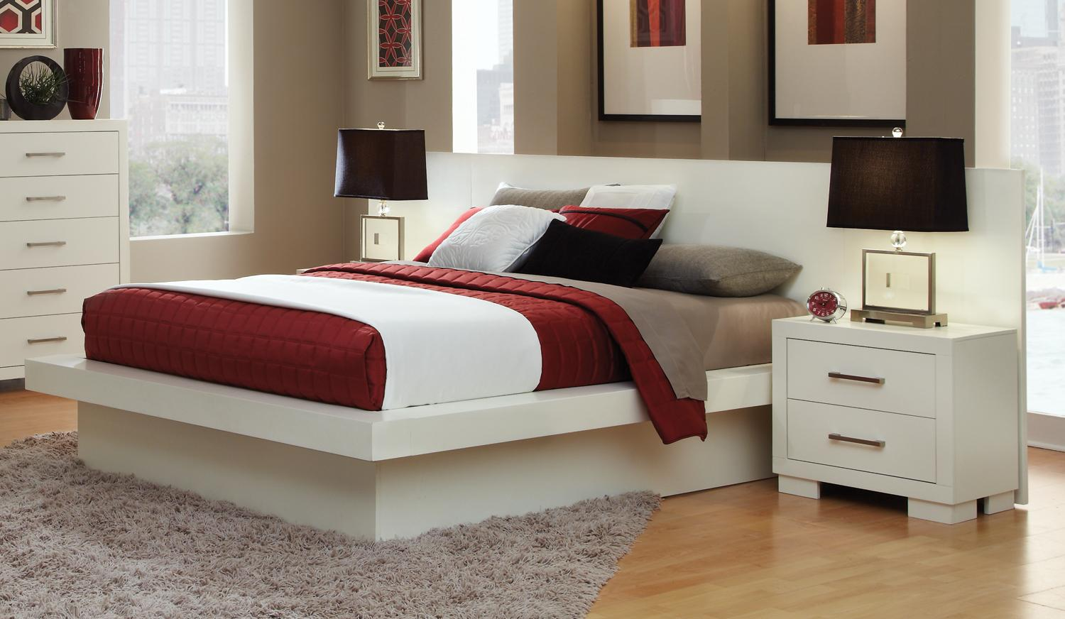 Coaster Jessica White Cal King Bed Dallas Tx Bedroom Bed Furniture Nation