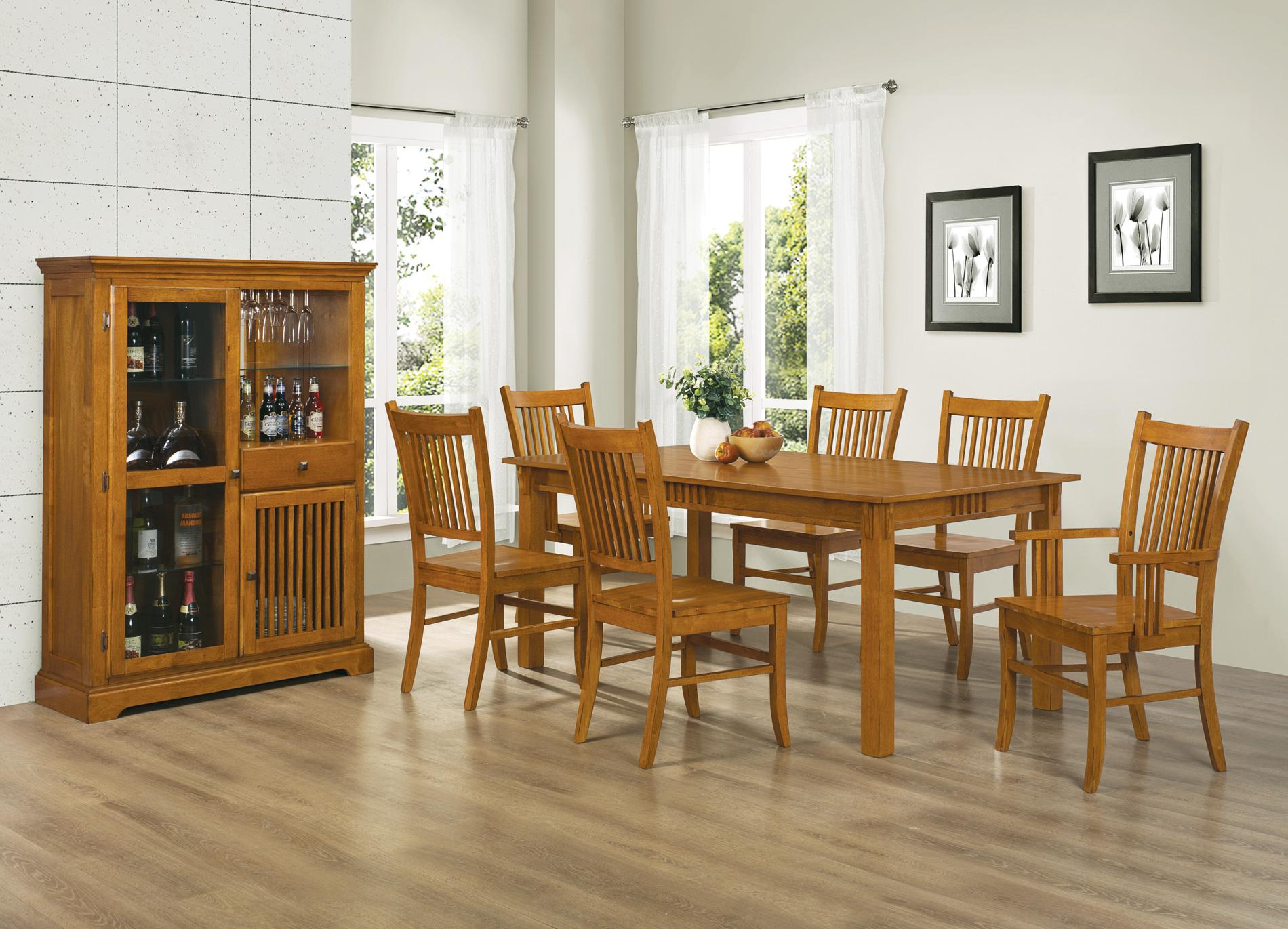 Coaster Marbrisa Mission Oak 7pc Dining Set Dallas Tx