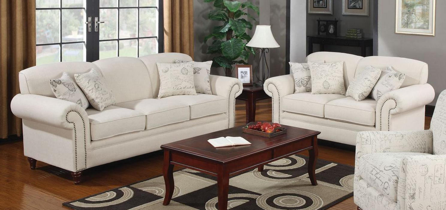 Coaster norah sofa loveseat set dallas tx living room Living room furniture dallas