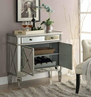 Coaster Mirrored 32in Accent Cabinet Available Online in Dallas Fort Worth Texas