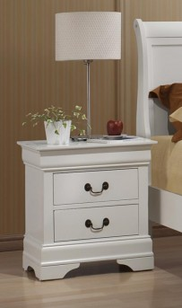 Coaster Louis Philippe White Night Stand Available Online in Dallas Fort Worth Texas