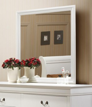 Coaster Louis Philippe White Mirror Available Online in Dallas Fort Worth Texas