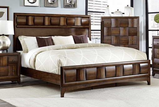 Homelegance Porter Warm Walnut King Bed Available Online in Dallas Fort Worth Texas