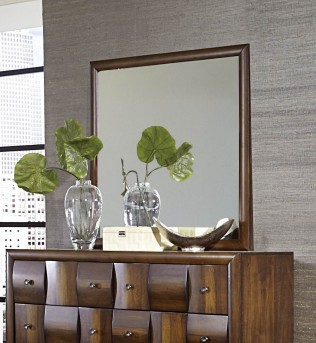 Homelegance Porter Warm Walnut Mirror Available Online in Dallas Fort Worth Texas
