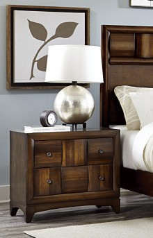 Homelegance Porter Warm Walnut Night Stand Available Online in Dallas Fort Worth Texas