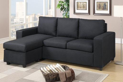 Updated Johnson Black Sofa Chaise Available Online in Dallas Fort Worth Texas