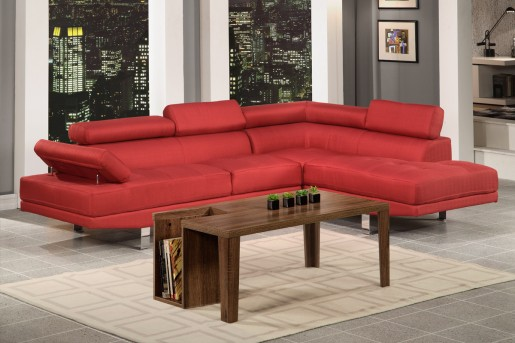 Updated Creed Red Sectional Available Online in Dallas Fort Worth Texas