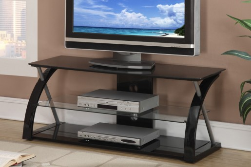 Updated Jefferson Black Glass TV Console Available Online in Dallas Fort Worth Texas