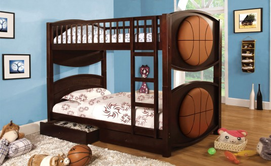FOA Furniture Of America Basketball Twin/Twin Bunk Bed Available Online in Dallas Fort Worth Texas