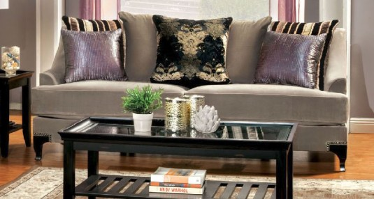 FOA Furniture Of America Vittoria Cocoa Brown Sofa Available Online in Dallas Fort Worth Texas