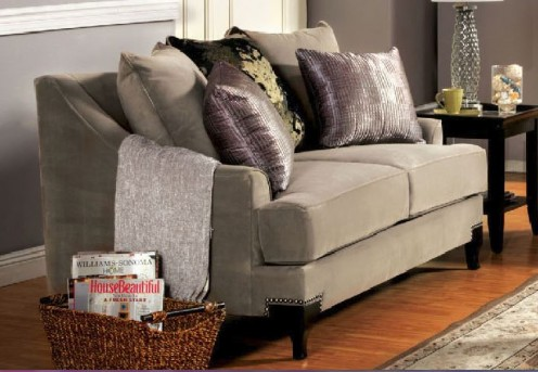 FOA Furniture Of America Vittoria Cocoa Brown Loveseat Available Online in Dallas Fort Worth Texas