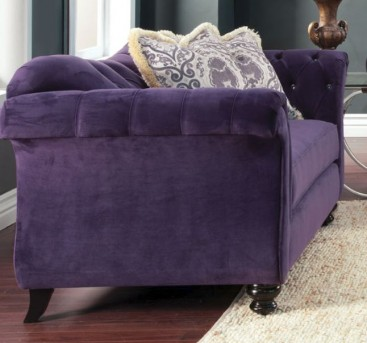 FOA Furniture Of America Antoinette Purple Loveseat Available Online in Dallas Fort Worth Texas