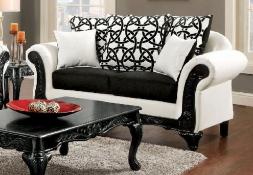 FOA Furniture Of America Dolphy Loveseat Available Online in Dallas Fort Worth Texas