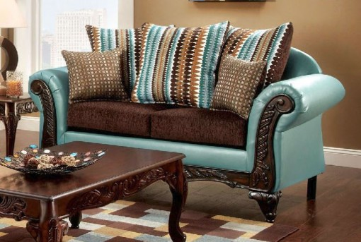 FOA Furniture Of America Mulligan Loveseat Available Online in Dallas Fort Worth Texas