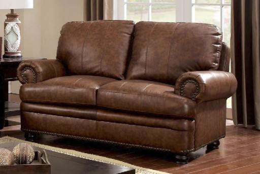 FOA Furniture Of America Rheinhardt Leather Loveseat Available Online in Dallas Fort Worth Texas