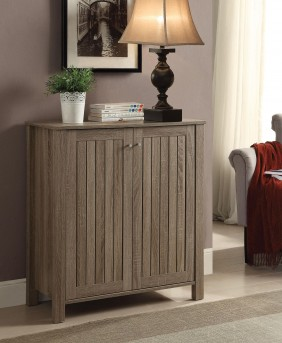 Coaster Weathered Wood Shoe Cabinet Available Online in Dallas Fort Worth Texas