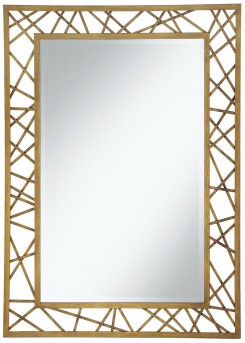 Coaster Accent Mirrors Gold Geometric Accent Mirror Available Online in Dallas Fort Worth Texas