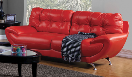 Volos Red Sofa Available Online in Dallas Texas