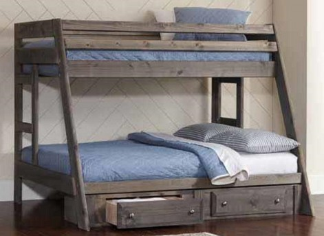 Coaster Wrangle Gun Smoke Twin/Full Bunk Bed Available Online in Dallas Fort Worth Texas
