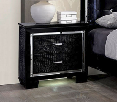 FOA Furniture Of America Bellanova Black Night Stand Available Online in Dallas Fort Worth Texas
