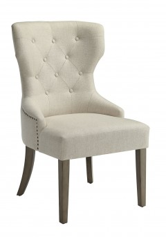 Florence Beige Side Chair With Tufted Back Available Online in Dallas Fort Worth Texas