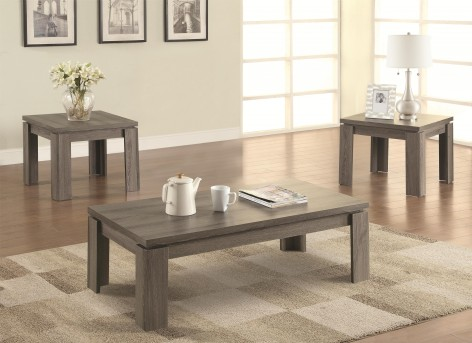 Coaster Virginia Grey 3pc Coffee Table Set Available Online in Dallas Fort Worth Texas
