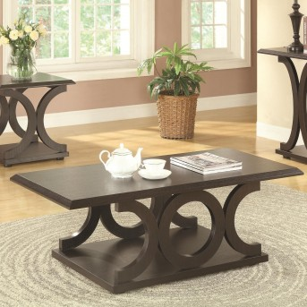 Coaster Ibanded Cappuccino Coffee Table Available Online in Dallas Fort Worth Texas