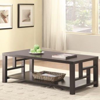 Coaster Balaa Cappuccino Coffee Table Available Online in Dallas Fort Worth Texas