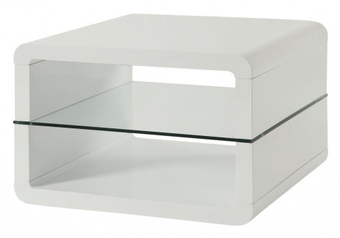 Coaster Diremkal Glossy White End Table Available Online in Dallas Fort Worth Texas