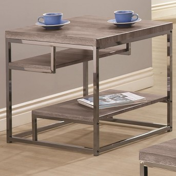 Coaster Alaam Weathered Grey End Table Available Online in Dallas Fort Worth Texas