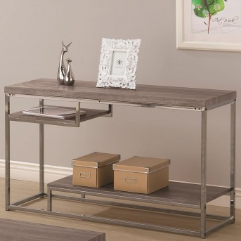 Coaster Alaam Weathered Grey Sofa Table Available Online in Dallas Fort Worth Texas