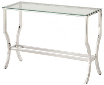 Coaster Walling Chrome Sofa Table Available Online in Dallas Fort Worth Texas