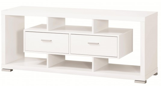 Coaster Odyssey White Storage TV Console Available Online in Dallas Fort Worth Texas