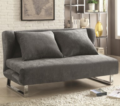 Coaster Gray Velvet Sofa Bed Available Online In Dallas Fort Worth Texas