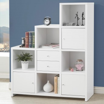 Coaster Stair Step White Bookcase Available Online in Dallas Fort Worth Texas