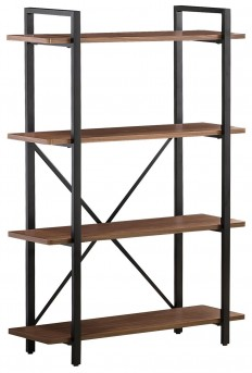 Coaster The Akward Light Brown Bookcase with 4 Shelves Available Online in Dallas Fort Worth Texas