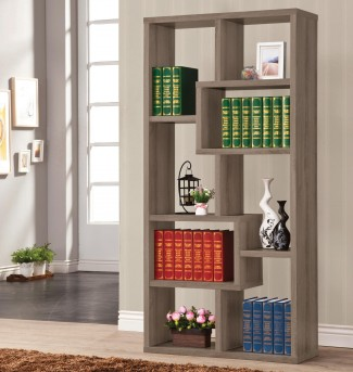 Coaster Pergola Weathered Grey Bookcase Available Online in Dallas Fort Worth Texas
