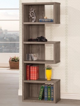 Lefty Weathered Grey Bookcase Available Online in Dallas Texas