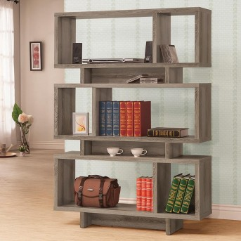 Coaster 3-Tier Weathered Grey Bookcase Available Online in Dallas Fort Worth Texas