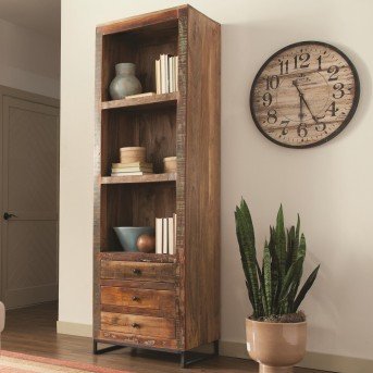 Coaster Peel Brown Accent Cabinet Tall Open Bookcase Available Online in Dallas Fort Worth Texas