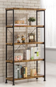Coaster Barritt Antique Metal Open Bookcase Available Online in Dallas Fort Worth Texas
