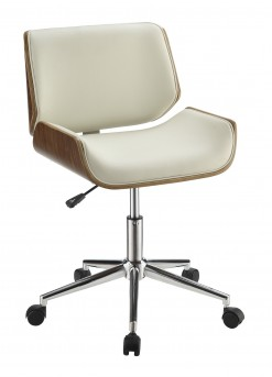 Coaster Office Chairs White Leatherette Contemporary Office Chair Available Online in Dallas Fort Worth Texas