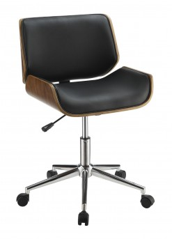 Coaster Office Chairs Black Leatherette Contemporary Office Chair Available Online in Dallas Fort Worth Texas