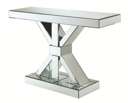 Coaster Oakley Chrome Console Table Available Online in Dallas Fort Worth Texas